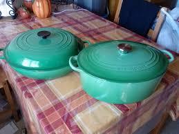 discontinued le creuset colors. Simple Colors Le Creuset Green Pots On Discontinued Colors O