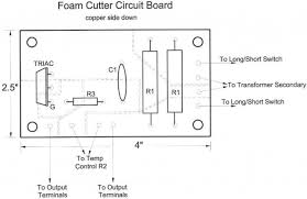 foam cutting power supply cut out this drawing and use it as a template and paste it on the side opposite of the copper on the cb circuit board some rubber