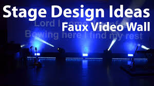 Church Stage Design Ideas church stage design ideas faux video wall