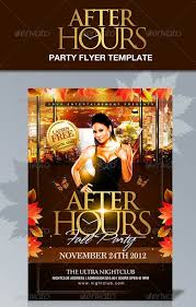thanksgiving party flyer after hours party flyer template