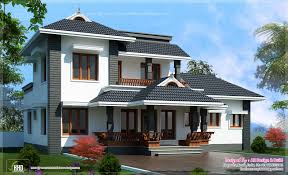 2000 sq feet 4 bedroom sloping roof residence kerala home design