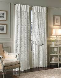 ... Ideas Modern Living Room, Damask White Inverted Pleat Window Curtains  Large Luxury Living Room Curtains Drapes Are ...