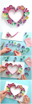 learn how to quill a darling heart shaped mother s day paper craft gift idea via paper