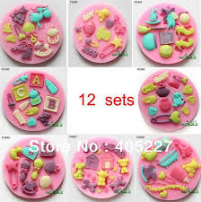 Decorating Cake Balls 100sets 100D various Flower Decorating cake pop cutter fondant craft 17