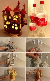diy fairy house lamp using e plastic bottles