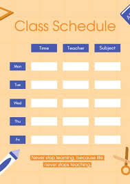 Design Schedule Template Online Class Schedule Planner Template Fotor Design Maker
