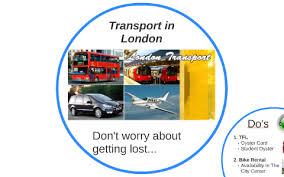 transport in london by sarah nietopski