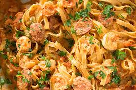 cajun pasta with shrimp and smoked sausage recipe