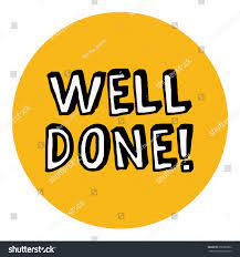 Well Done Congratulations Message Card Stock Vector (Royalty Free) 656985802