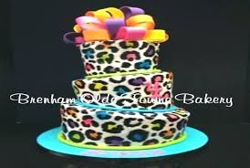 Cake Ideas For Womens 50th Birthday Best Cheetah Design Good Of Neon