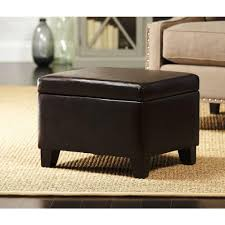 faux leather ottoman. Home Decorators Collection Classic Faux Leather Storage Ottoman In Dark Brown