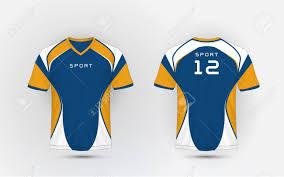 Football Shirt Designs Blue White And Orange Stripe Pattern Sport Football Kits Jersey