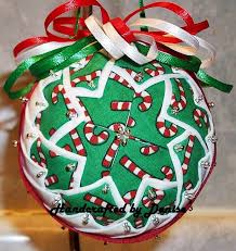 91 best Ball Board images on Pinterest | Christmas tree crafts ... & Candy Cane - Handcrafted by Denise ~ quilted fabric ornaments Adamdwight.com