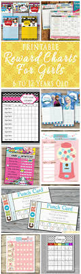 Printable Reward Charts For Kids 6 To 12 Years Old