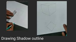 how to draw 3d square on paper 3d drawing on paper pencil drawing step