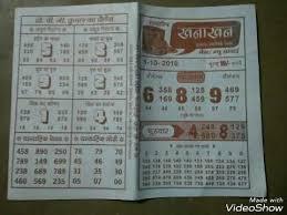 1 10 18 Mumbai Khanakhan Chart Youtube
