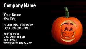 Halloween Business Cards Halloween Business Cards