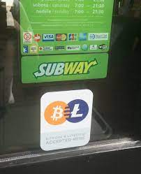 There is no government, company, or bank in charge of bitcoin. Subway Accept Btc And Ltc Steemit