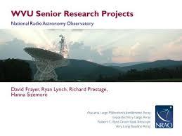 David Frayer Key Auto Group The Green Bank Observatory National Radio Astronomy Observatory