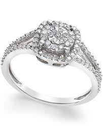 cushion cut diamond promise ring 1 4 ct t w in sterling silver