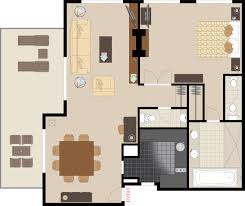 Mgm Signature One Bedroom Suite One Bedroom Suite Plans Tllon Room Floorplan Grand One Bed Suite