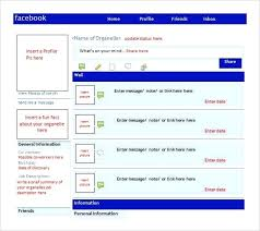 facebook template for student projects. Template For Students 9 Best Images Of Page Project Blank Profile