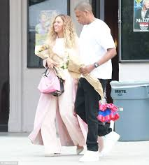 working through it beyonce and jay z looked to be in good spirits as they