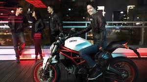 there is also an led light at the rear the monster 797 includes the hazard warning lights function which can be activated by pressing the designated