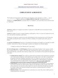 Sample Employment Separation Agreements Mesmerizing Sample Work Contract Letter Juanmarinco