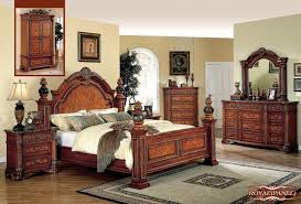 Second Hand Bedroom Furniture Sets Meridian Royal King Panel Bed In Cherry