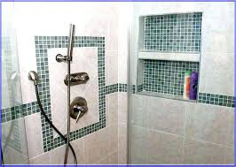 shower stall tile designs inserts ideas inset shelf pictures