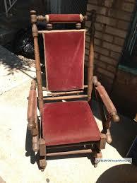 antique vintage platform rocker spring rocking chair primitive steampunk era unknown photo