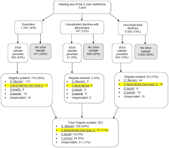 The Diarrhoea Treatment Chart Flow Chart Illustrating Distribution Of Diarrhea Cases And