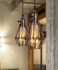 industrial loft lighting. Buyee® 2*Modern Vintage Industrial Loft Metal Brown Rustic Pendant Light Fittings(Bronze, 2 Light+2 Bulb): Amazon.co.uk: Kitchen \u0026 Home Lighting