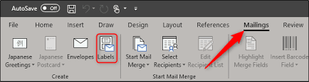 How To Create And Print Labels In Word