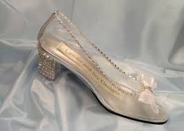 glass wedding shoes. glass slipper cinderella shoes, crystal heels, clear wedding bride shoes