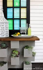 concrete block furniture. exellent block concrete block planter for furniture