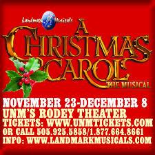 Landmark Musicals A Christmas Carolnovember 23 December 8
