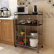 metal wire kitchen basket trolley rack with board kitchen basket trolley wire shelving home storage with 53 84 set on robert1979 s dhgate