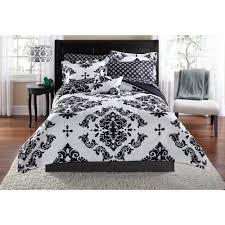 black and white bedding sets mainstays classic noir twin xl bed in a bag coordinating