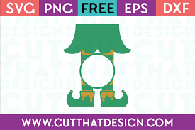 Elf's legs and elf's hand with a gift. Free Svg Files Elf Archives Cut That Design