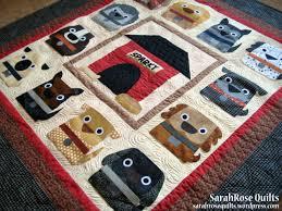 Dog Quilt Patterns Classy Dog Days Pattern SarahRose Quilts Blog