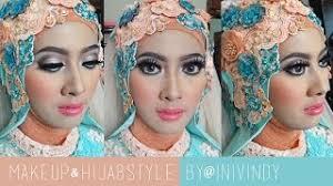 tutorial makeup hijabstyle untuk resepsi pengantin muslim by inivindy