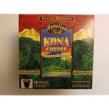 Kona hawaiian gold kona coffee, gourmet blend ground coffee, 10 ounce : Buy Hawaiian Gold Kona Coffee 18ct Kcup 2 0 Net Wt 7 02 Oz Online In Jordan B07pdv3ykv