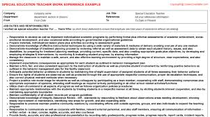 special education teacher job description resume new  special education teacher job title docs