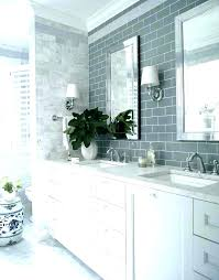 blue grey gray glass subway tile tiles backsplash kitchen cabinets with