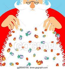 Vector Stock Santa Claus Rain Gifts Gift Lot Of Festive