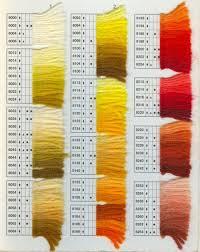 Dmc Tapestry Wool Colour Chart Les Patrons De Broderie