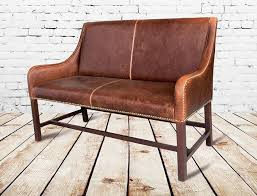 brown leather dining room chairs manchester leather settee love this especially for a banquette of brown