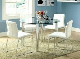 all glass table kitchen dining round for small room top bases